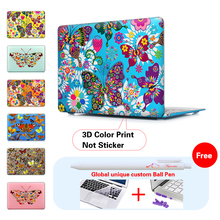 Colorful Butterflies Flowers Cover Case For Apple Macbook Air 11 13 Pro Retina 13 New 12