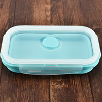 3Pcs Set Silicone Folding Bowl Food Lunch Case Box Tableware Container with Lid