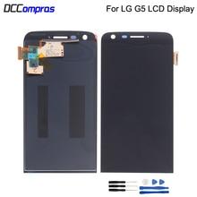 Оригинальный Для LG G5 lcd сенсорный экран дигитайзер для LG G5 запасной ЖК-экран для LG G5 дисплей 5,3 ''H850 с рамкой