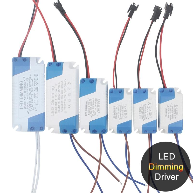 Светодиодный трансформатор, адаптер питания 1-36 Вт, светодиодный прожектор с пластиковым корпусом для светодиодных ламп