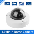 H.264 720P Mini 1.0MP Dome IP Camera CCTV Security ONVIF 12Pcs IR Indoor / Outdoor IR-CUT NightVision P2P Plug And Play APP View