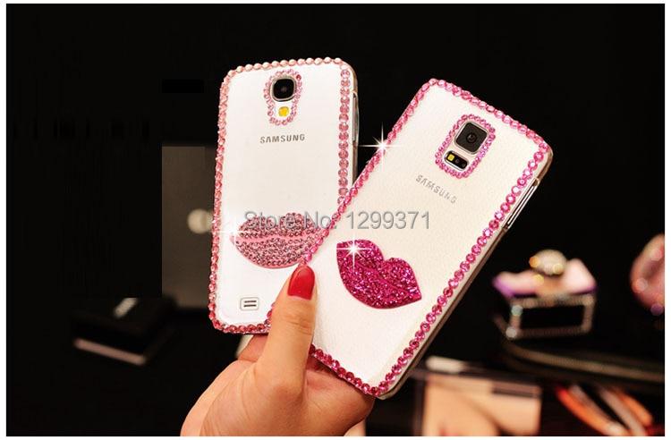 Dower Me For <font><b>Samsung</b></font> Galaxy S8/7/6 Edge Plus S5/4/3 Note 8 5 4 3 2 Fashion Bling <font><b>Sexy</b></font> Kiss Lip Diamond Crystal <font><b>Phone</b></font> <font><b>Case</b></font> Cover