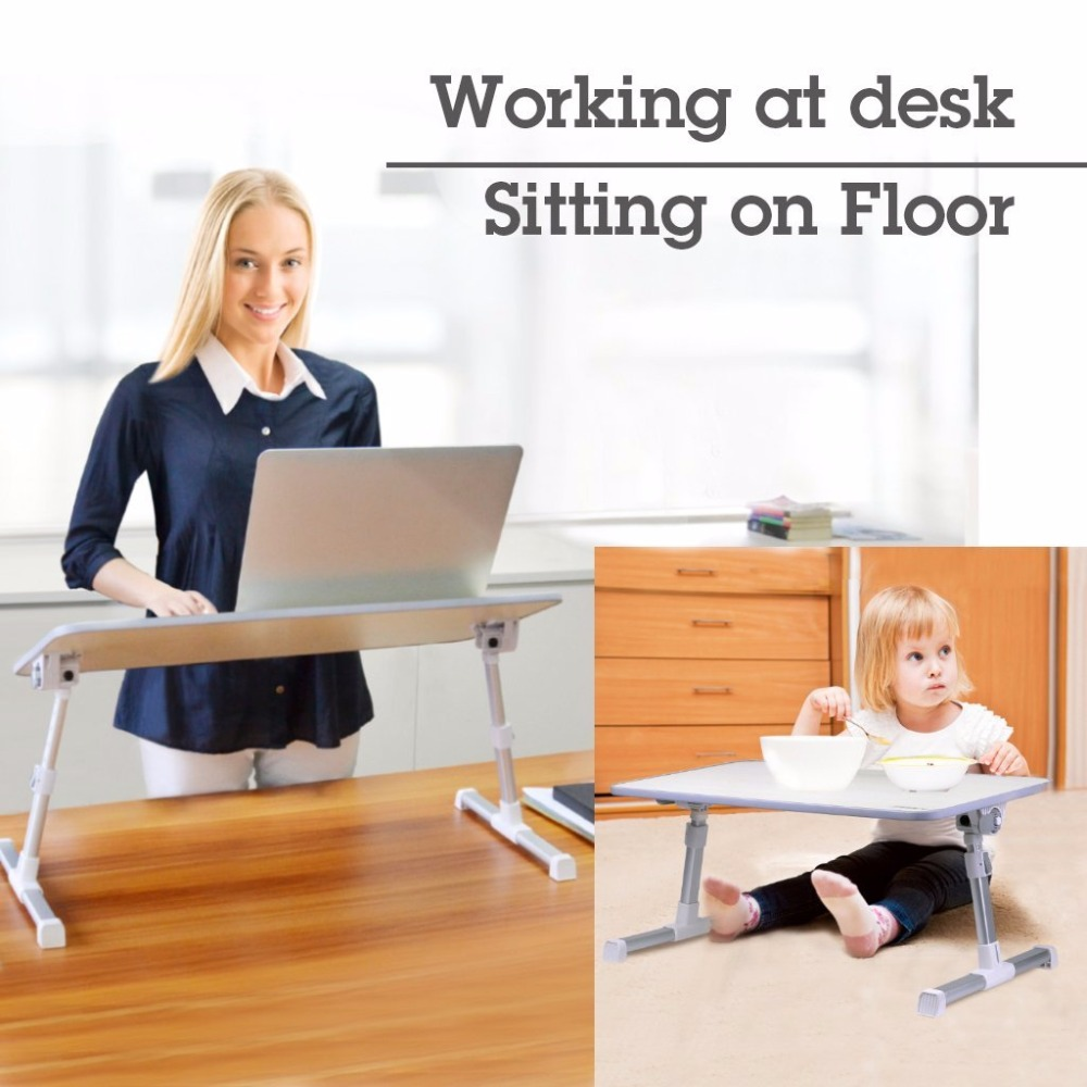 Large Size Adjustable Laptop Bed Coach Table Portable Standing Desk  Foldable Sofa Breakfast Tray Notebook Stand Reading Holder aluminum alloy adjustable laptop desk lapdesks computer table stand notebook with cooling fan mouse board for bed sofa tray