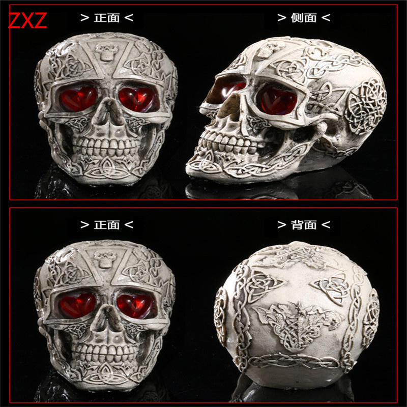 Resin Skull Band Fashion Mens Biker Punk Veel Skull fancy Creative action figure toys Skeleton model decor collection decor toys airsoft adults cs field game skeleton warrior skull paintball mask