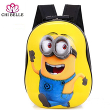 Yellow one backpack custom childrens cartoon bag animated shell package
