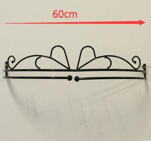 Image 2 - 60cm.Wrought iron bed frame mantle mosquito net mantle curtain holder fashion furniture princess rack