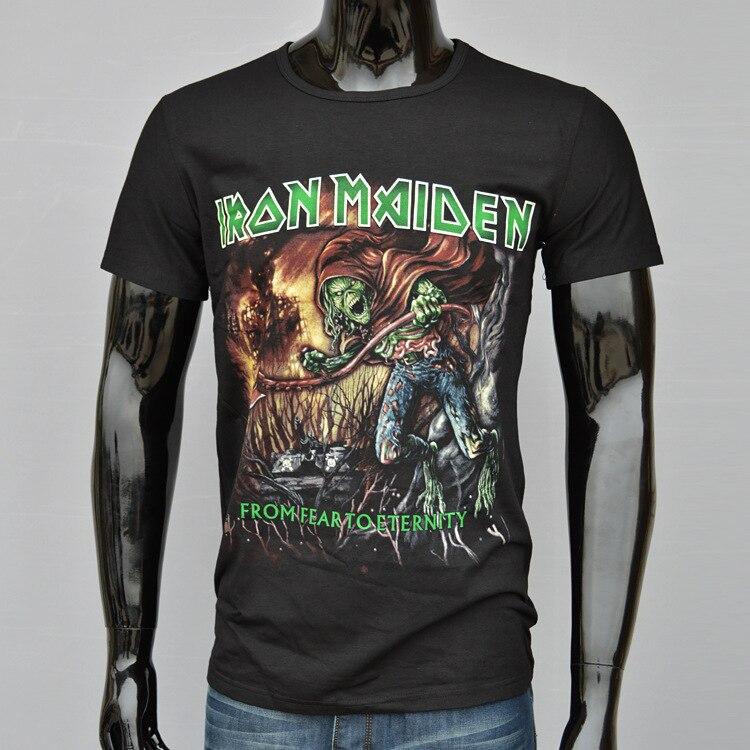 2015 new 3D Iron Maiden <font><b>From</b></font> <font><b>Fear</b></font> <font><b>To</b></font> <font><b>Eternity</b></font> Death metal rock Men t-shirts 3D Printing t shirts Size,M-XXXL T37