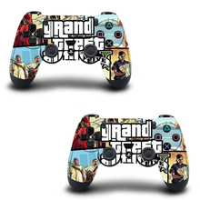 2PCS PS4 Controller Skin Sticker Grand Theft Auto V Vinly Decal Cover for Sony PlayStation 4  Wireless Controller