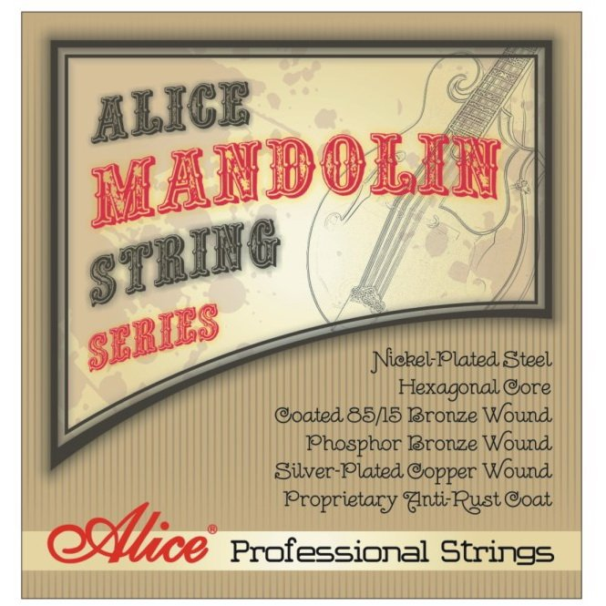 Alice professional strings Mandolin strings nickel-plated steel Hexagonal core 3 sets alice aw466 light acoustic guitar strings plated high carbon steel