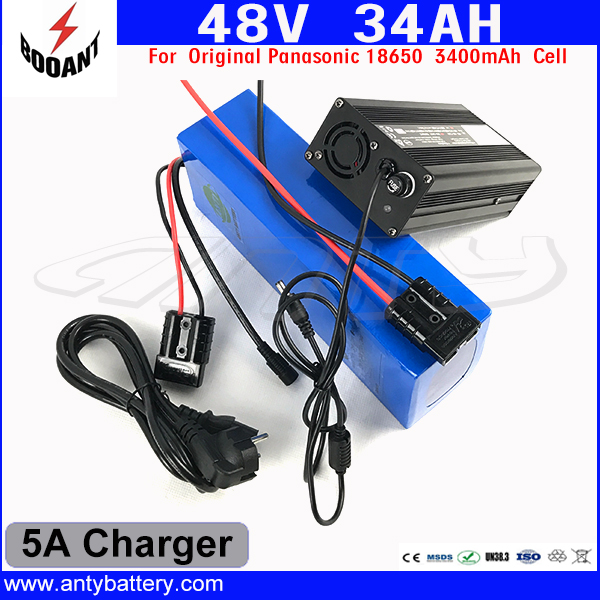 Lithium Scooter 48V 34AH eBike Battery 48V For Bafang Motor 1800W With Original 18650 Cell Built-in 50A BMS 54.6V 5A Charger 30a 3s polymer lithium battery cell charger protection board pcb 18650 li ion lithium battery charging module 12 8 16v