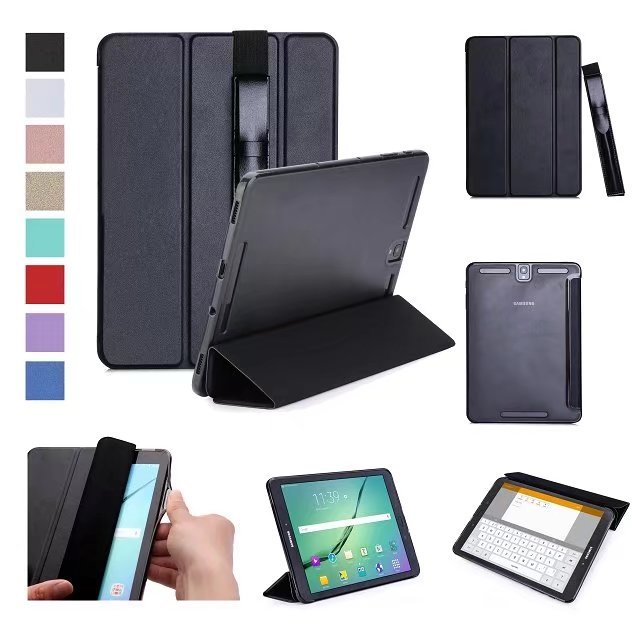 official photos 39cfc a9931 US $10.36 5% OFF|Smart Ultra Thin Magnetic Leather Hard Back Cover Case For  Samsung Galaxy Tab S3 9.7 SM T820 / T825 -in Tablets & e-Books Case from ...