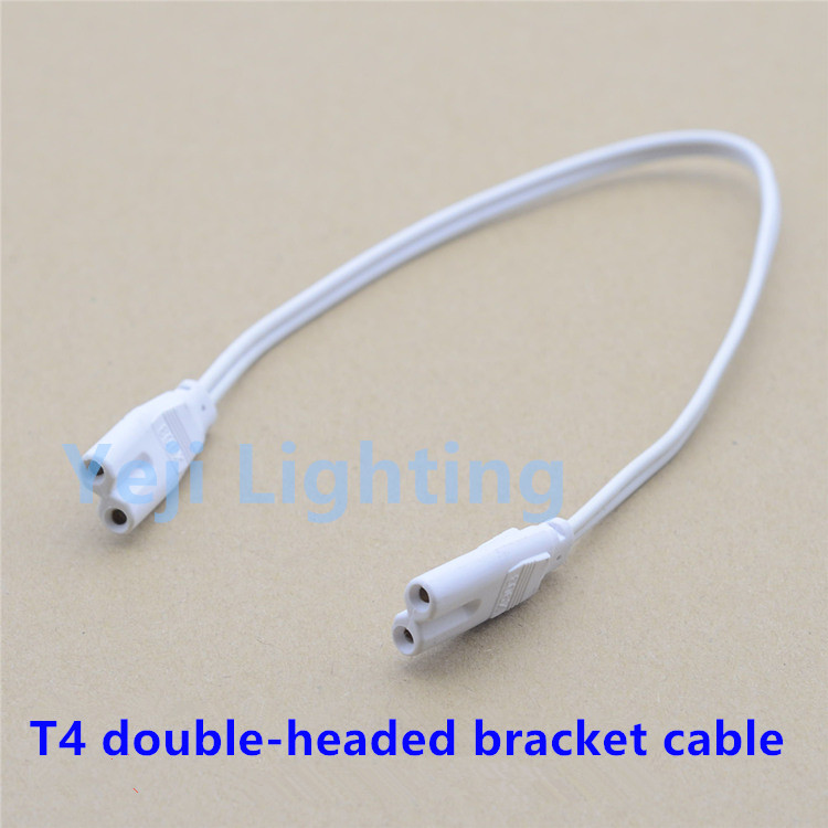 T4 LED light tube 2 hole double headed female plug wire ...