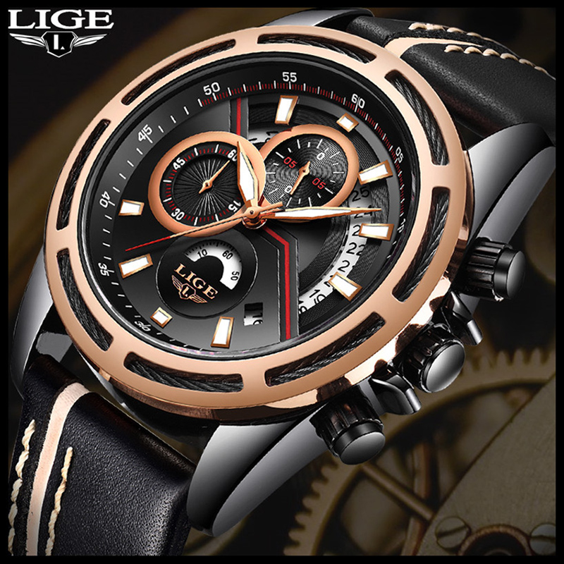 Mens Watches LIGE 2018 Brand New Fashion Casual Luxury Model Classic Military Swag Men L ...