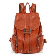 Maxwell High Quality Cute Real Cowhide Teenage Girls Women Backpack Genuine Leather Travel Bags School Backpacks #MW-AS43