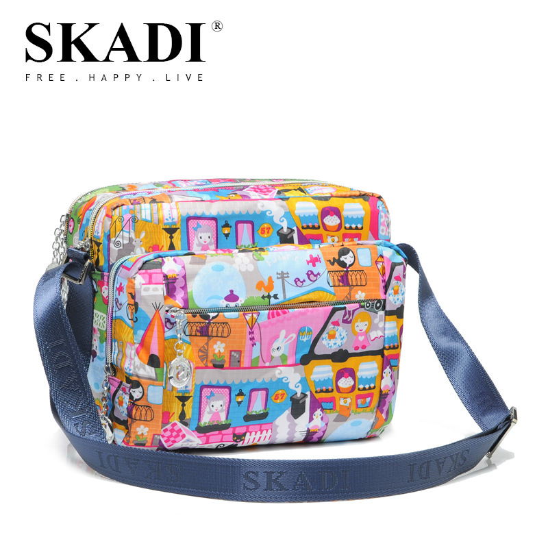 SKADI 2017 New  Women Nylon Casual Fashion Pocket Crossbody Bags Super Ladies Messenger Bag Small Handbags