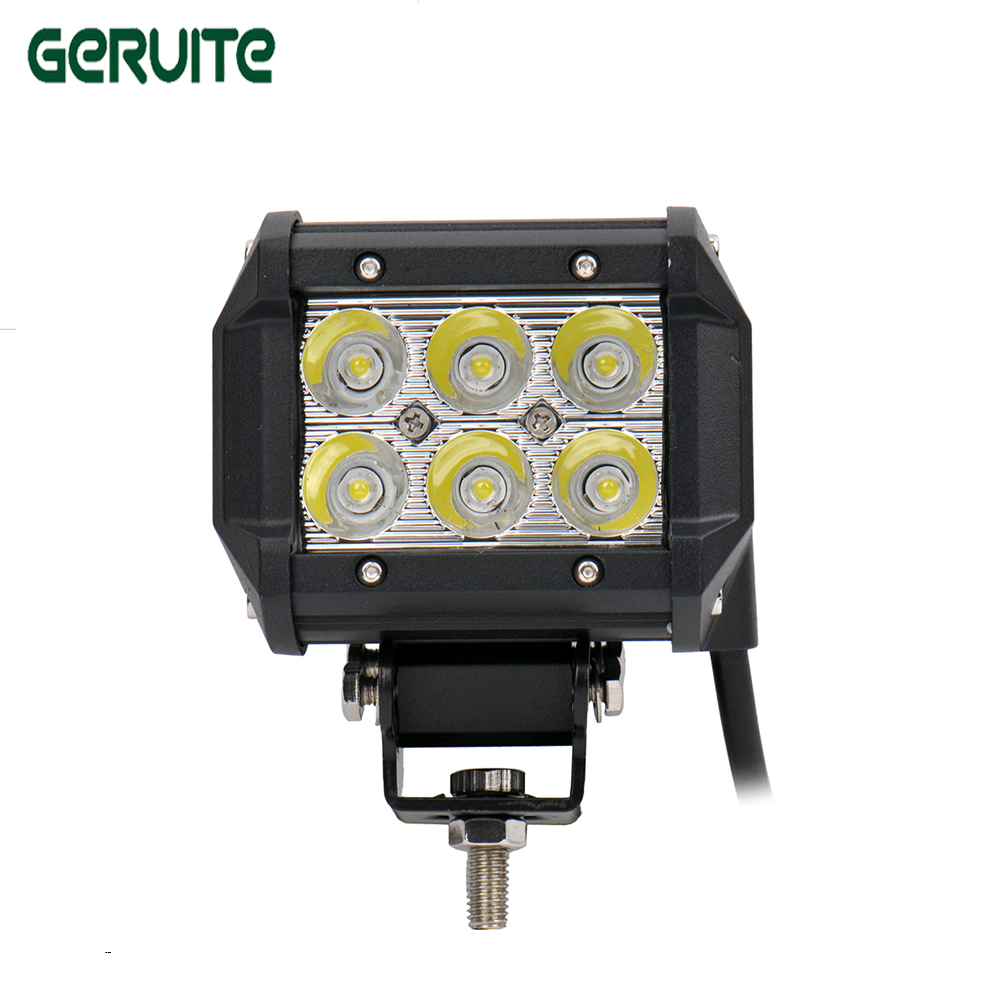 купить 1Pc 4 inch 18W LED Work Light Lamp for Motorcycle Tractor Boat Off Road 4WD 4X4 Truck SUV ATV Spot 12V 24V car spot worklight недорого