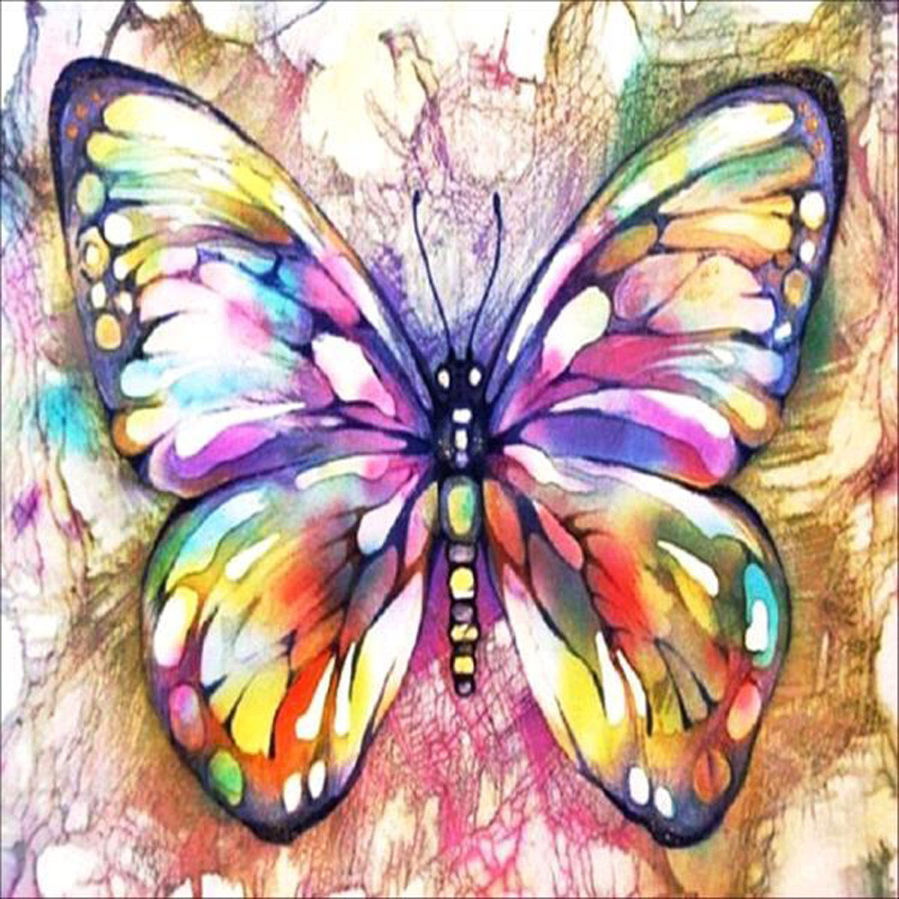 5d Hand Holding Butterfly Diy Resin Diamond Painting Cross Stitch Home Wall Art House Decor Size