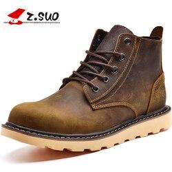 Z botas de piel de invierno de marca SUO botas de cuero genuino de alta calidad para Hombre Zapatos de herramientas informales zapatos de trabajo para hombres nieve botas