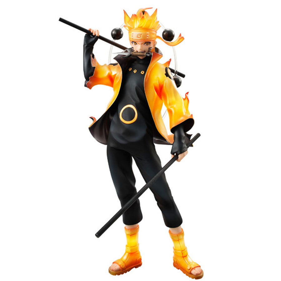 2017 New Naruto action figures Uzumaki Naruto Rikudou Sennin Mode Uzumaki Naruto figuras Doll model Collection