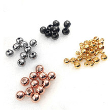10pcs/lot 2 3 4 5 6 8mm Stainless Steel Rose Gold Black Spacer Beads Charm Loose DIY Bracelets for Jewelry Making