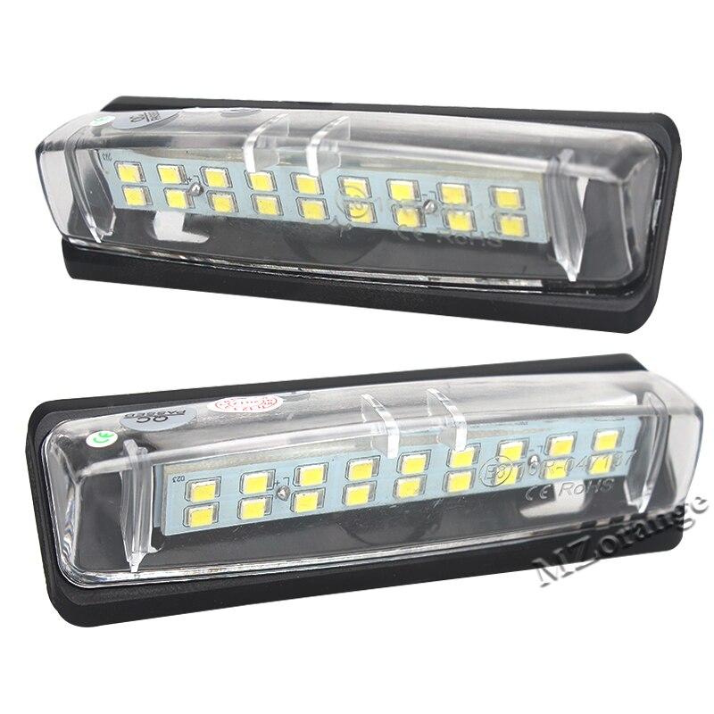 2Pcs 18SMD LED No Error Car License Plate Lights Base Bulb for Mitsubishi Colt Plus Grandis 2003~ AUTO Number lamps White