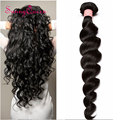7A Malaysian Loose Wave 1Pc Unprocessed Malaysian Virgin Hair Loose Wave Human Hair Weaves Bundles Sunny Queen Hair Products
