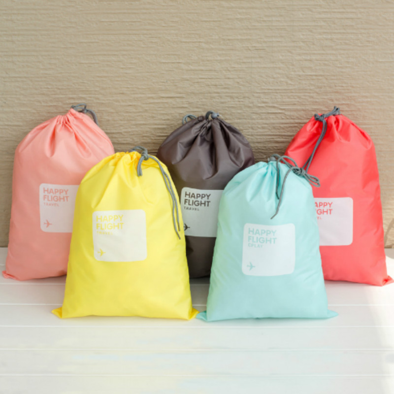 Pacgoth японский и корейский стиль нейлон Упаковка Организаторы Портативный Туристические товары Письмо Печать Tote Дорожные сумки 1 компл.
