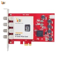 Octa tuner card TBS6909 DVB S/S2 8 TV Tuner PCIe Card for Watching and Recording Satellite FTA channels /Radio Programs on PC