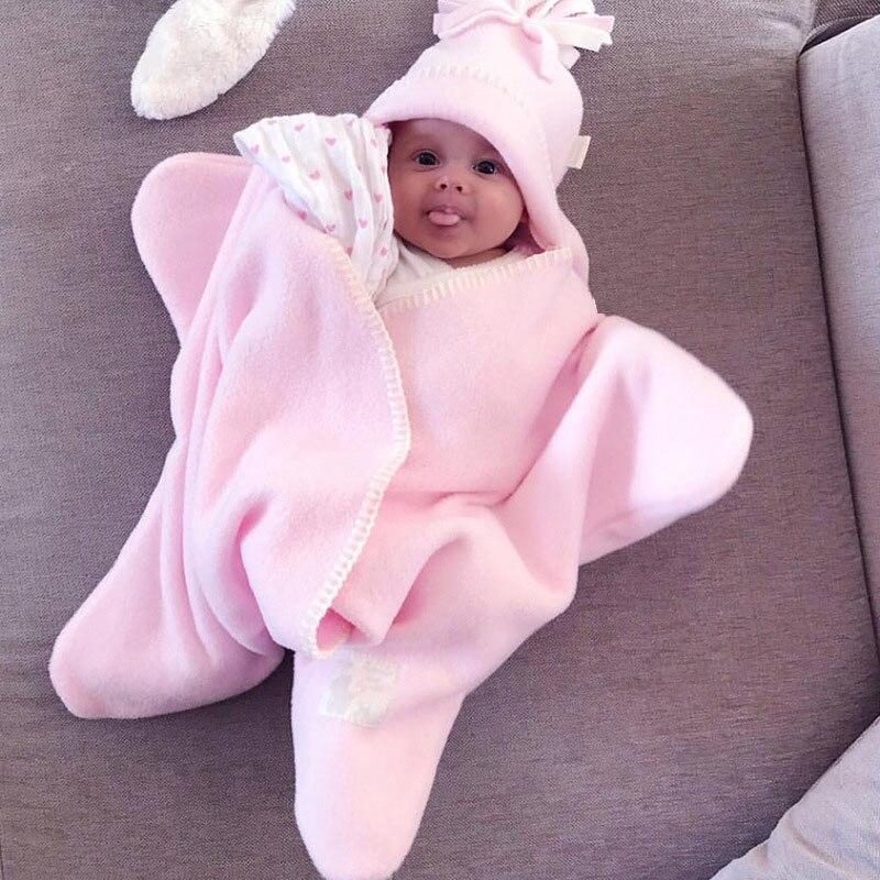 Rosa 2018 Herbst Und Winter Neue Flanell Kinder Schlafsack Starfish Baby Infant Wrap Winter Tasche Für Baby