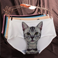 Cat Intimates High Quality Women Seamless Briefs Cat Pussy Cotton Panties Female Underwear Short Pants bragas de algodon