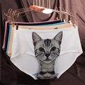 Gato intimates alta qualidade mulheres cuecas sem costura calcinhas de algodão do gato do bichano do sexo feminino underwear calças curtas bragas de algodon