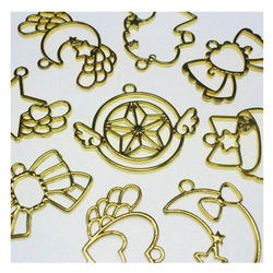 12 pcs mix style Lovely Magic Stick Metal Frame Jewelry Pendant Accessories DIY Resin Craft Handmade Supplies Open Bezel Charms