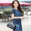 2016 New Summer Denim Dress High Quality Women Loose Fashion Jean Dress  A909