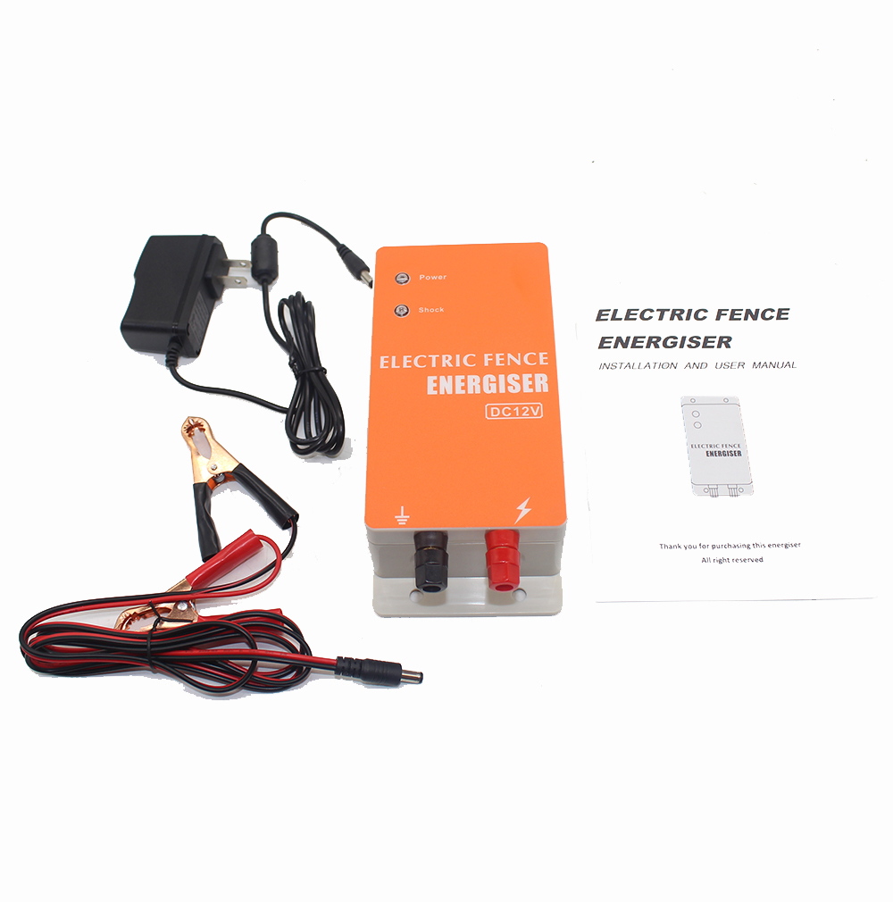 DC 12 V Solar electric fence charger Ranch Energy controller animal raccoon dog sheep horse cattle poultry farm electric fence YDC 12 V Solar electric fence charger Ranch Energy controller animal raccoon dog sheep horse cattle poultry farm electric fence Y