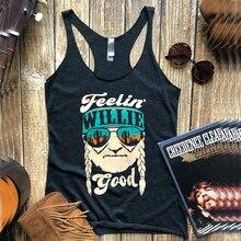 Feelin Вилли хороший топ на бретелях Топы женские фестиваль Лето размера плюс женская одежда питье майки ковбойский принт