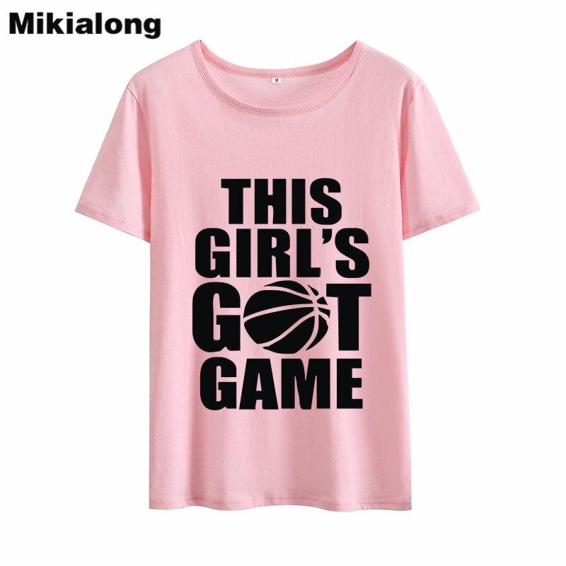 Mikialong 2018 THIS GIRLS GOT GAME T-shirt Women Cotton T Shirt Femme Kawaii Tumblr O-neck Short Sleeve Summer Top Tee Shirt