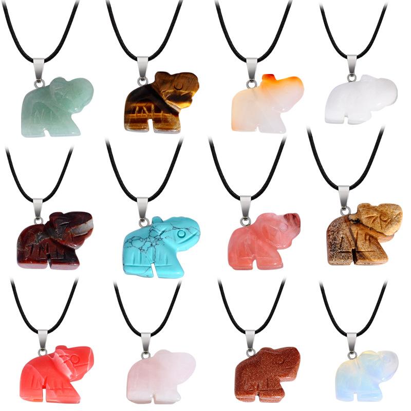 Free Ship Charm Elephant Animall Pendant Necklace Jewelry Women 12pcs/lot