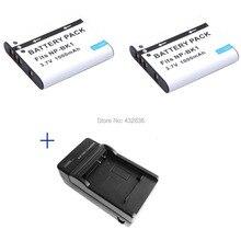 Wholesale 1000mAh  2pcs NP BK1 BK1 Li ion digital camera battery + Charger For Sony Cyber shot DSC S950 S980 DSC  S750 S780