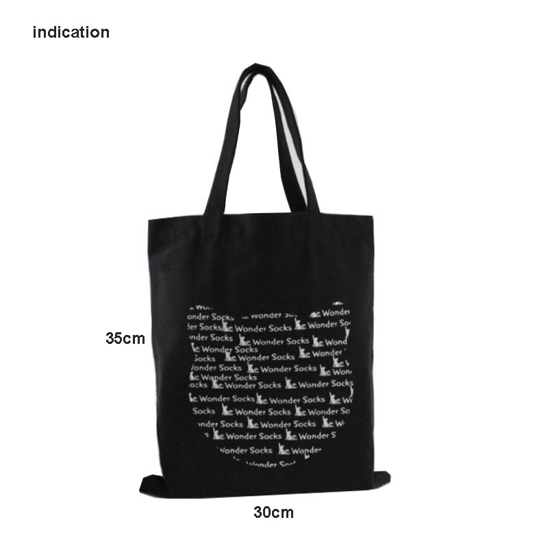 100Pcs Tote Shopping Bags Eco Bags Canvas Cotton Bags Green Shopping Bag No Zipper Customized With Your Own Logo