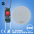 wholesales 10pcs 3W5W7W9W12W15W18W24W 5730 SMD Light Board Led Lamp Panel For Ceiling with 100-240V LED power supply driver