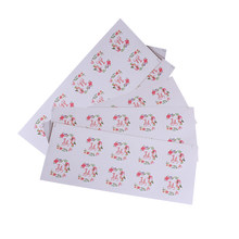 500 Pcs/lot Kawaii floral hoop Thank you sealing sticker floral hoop Sticker Adhesive Sticker For Hand Made Gift(China)