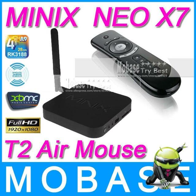 [T2 Air Mouse] MINIX NEO X7 Android TV Box Quad Core Mini PC 1.6GHz 2G/16G WiFi HDMI USB RJ45 OTG Optical XBMC Smart TV Receiver