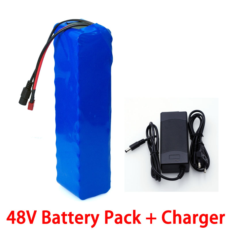 LiitoKala 48V 15ah 20ah 26ah Electric Bike Battery 48V 500W 750W Scooter Lithium Ion Battery  With 20A BMS + 54.6V 2A Charger