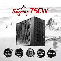 Segotep игровой 80 Plus Platinum KL 750W Питание с низкой Шум вентилятор и автомобильный вентилятор Скорость Управление полностью модульная конструкция