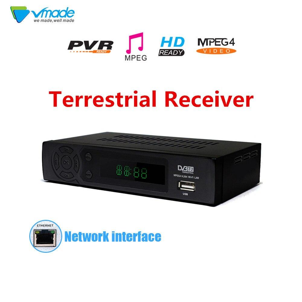 2018 Date DVB T2 Récepteur HD Numérique Terrestre TV Tuner Soutient YouTube MPEG-2/MPEG-4 MP3 H.264 HD 1080 p DVB T2 Set Top Box