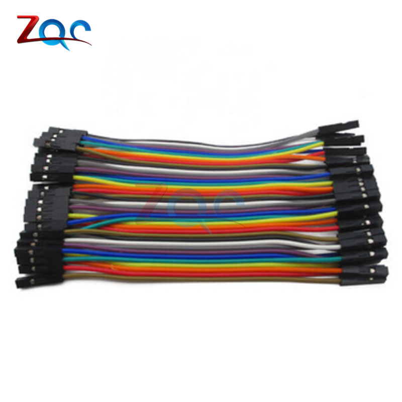 40pin dupont cable jumper wire dupont line female to female dupont line 10cm 1P diameter 2.54mm For Arduino 1000pcs dupont jumper wire cable housing female pin contor terminal 2 54mm new