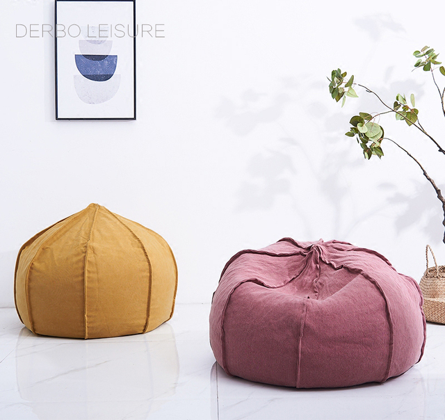 Loft Modern Design Soft Fabric Bean Bag Lounge Chair Sofa Nice Fashion  Popular Living Room Furniture