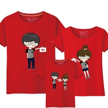 95% Cotton&5% Silk Matching Family Clothing Matching Mother Daughter Clothes Father Son Outfits Baby Boy T Shirt Clothes Set 6L