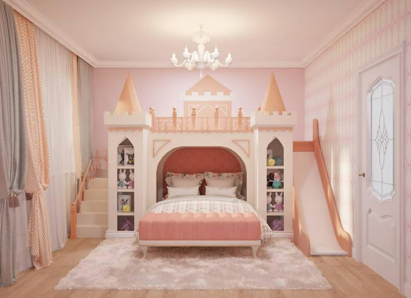 Solid Wood Princess Bed Castle Bed