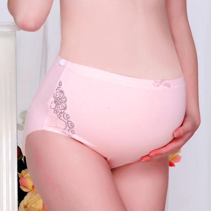 Telotunt 100%Cotton clothes for pregnant women Pure Color Pregnancy Women Underwear Panties Antibacterial Care belly JU 27